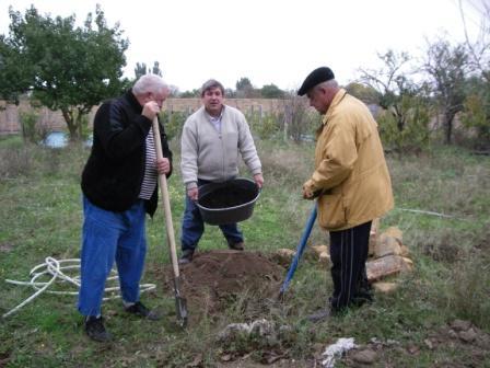 Осенняя посадка виноградника на Арабатской стрелке