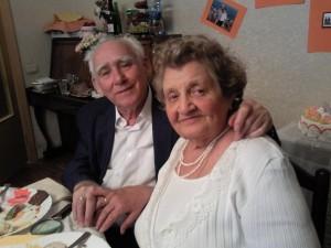 Бриллиантовая свадьба Владимира и Лидии Волковых 14.05.2011