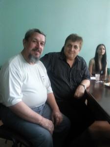 Василий Сенченко и Николай Федоренко, руководитель продюсерского центра БЭСТ