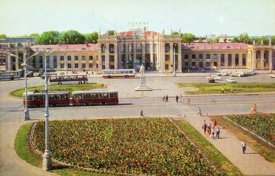 Воронеж, железнодорожный вокзал, 1973 год